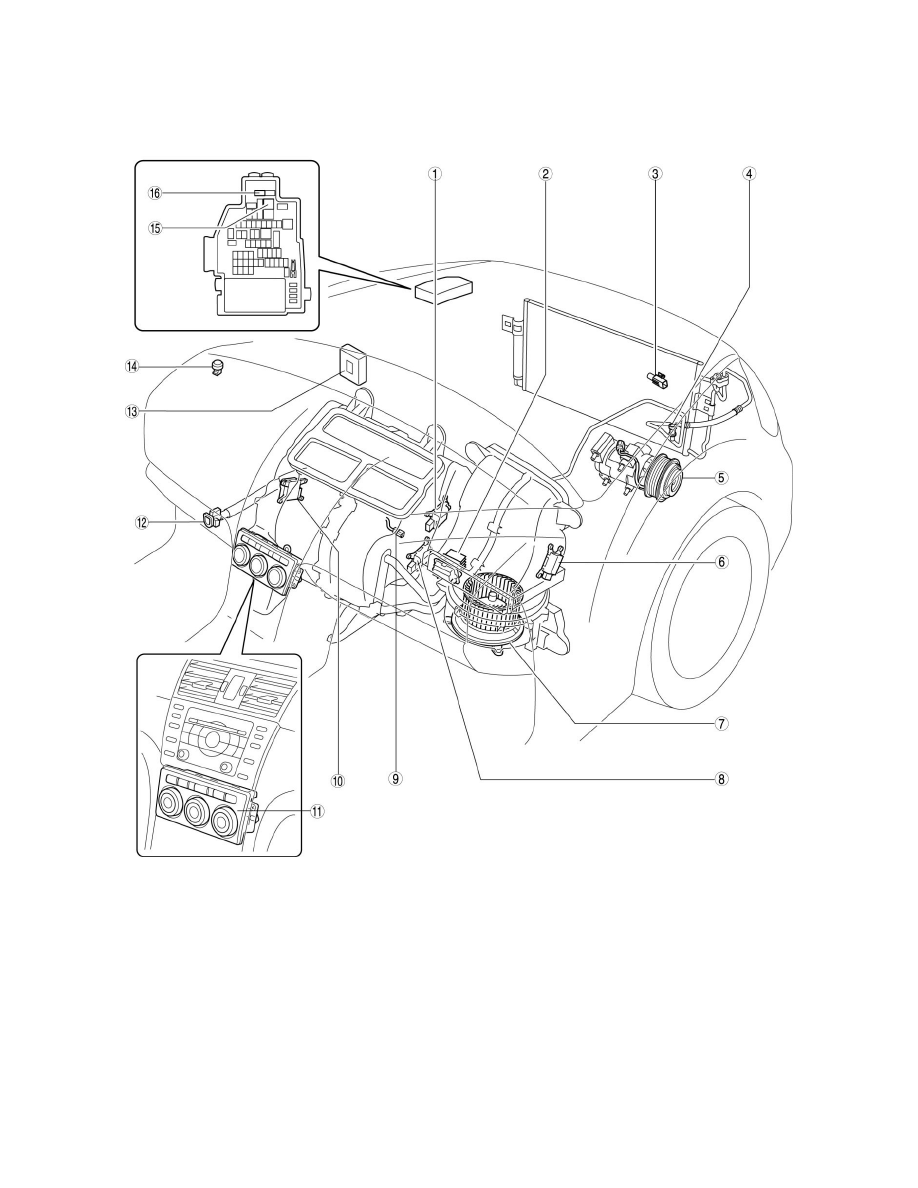 Mazda Workshop Manuals > 6 L4-2.5L (2010) > Heating and