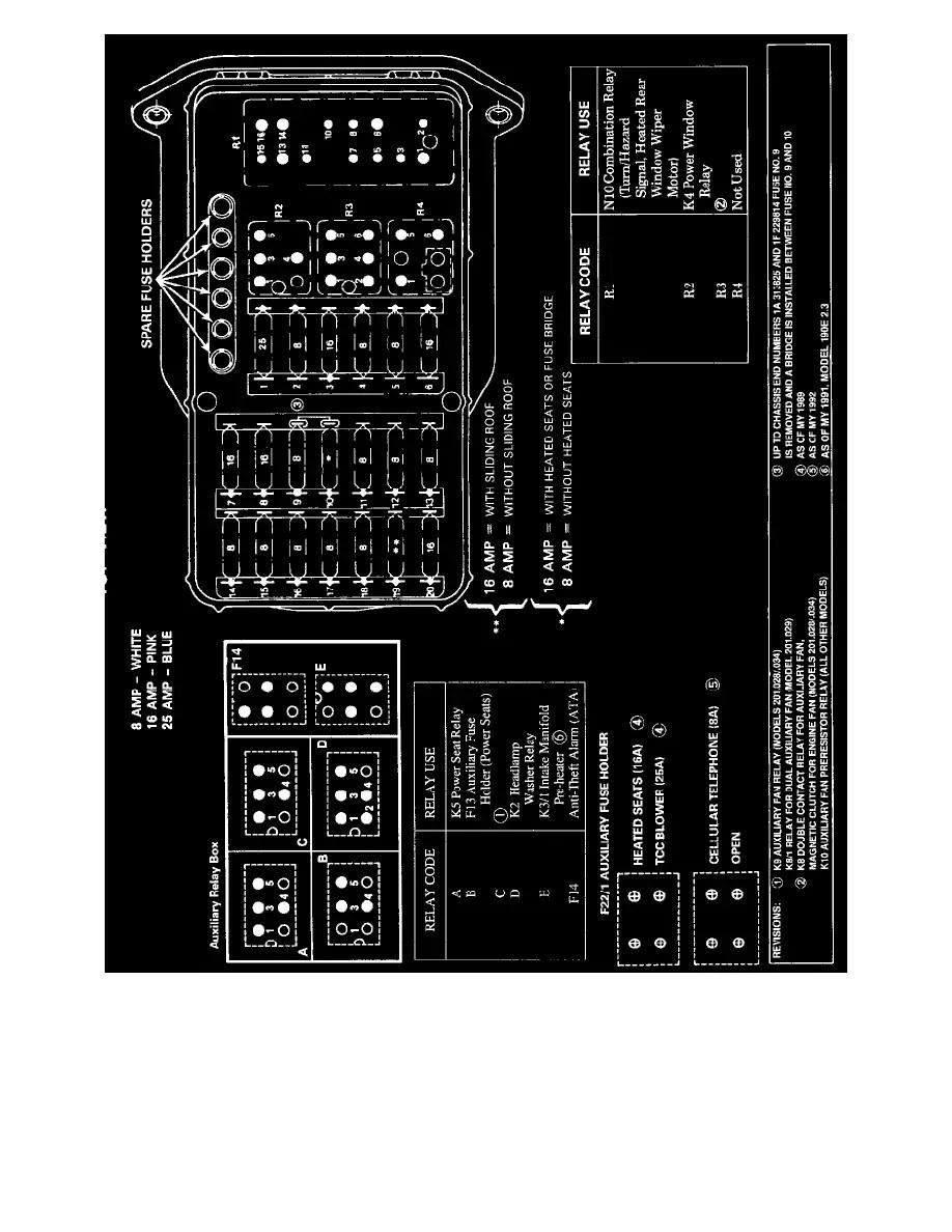 hight resolution of 190e fuse box layout