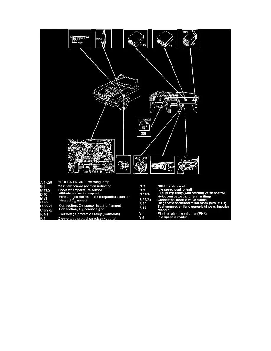 medium resolution of mercedes benz workshop manuals u003e 560sec 126 045 v8 5 6l 117 mercedes 560sec wiring diagram