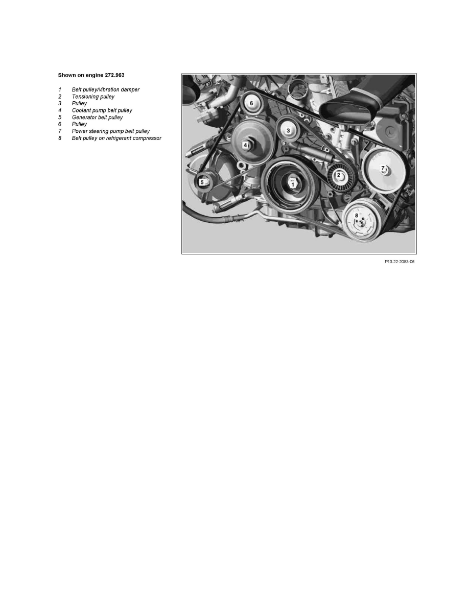 medium resolution of engine cooling and exhaust engine drive belts mounts brackets and accessories drive belt component information service and repair