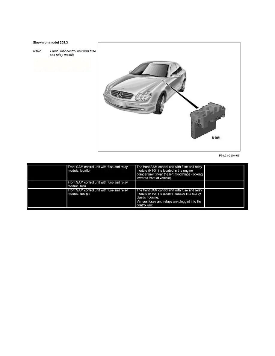 Mercedes Benz Workshop Manuals > CLK 350 Cabriolet (209