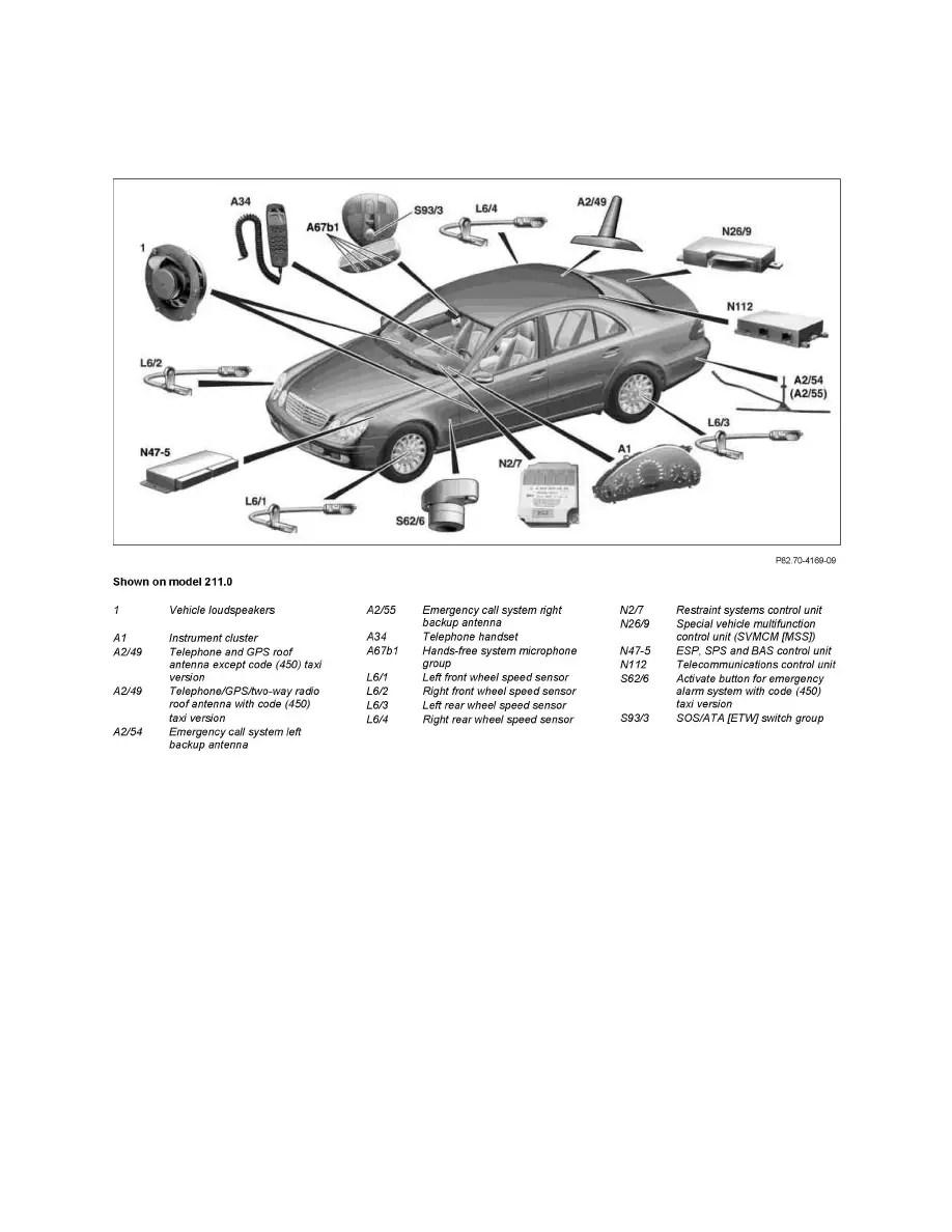 Mercedes Benz Workshop Manuals > E 550 (211.072) V8-5.5L