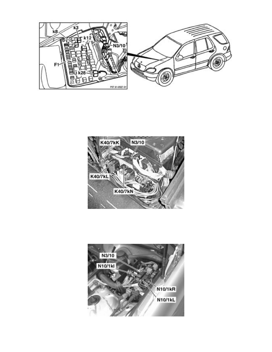 Mercedes Benz Workshop Manuals > ML 500 (163.175) V8-5.0L
