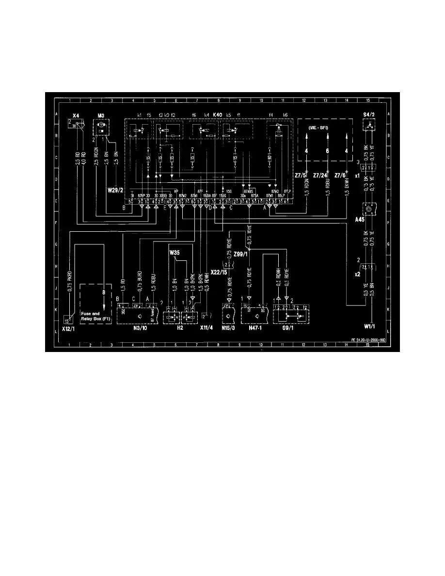 medium resolution of mercedes benz workshop manuals u003e slk 230 170 447 l4 2 3l sc mercedes 230 kompressor 1999 slk 230 fuse diagram