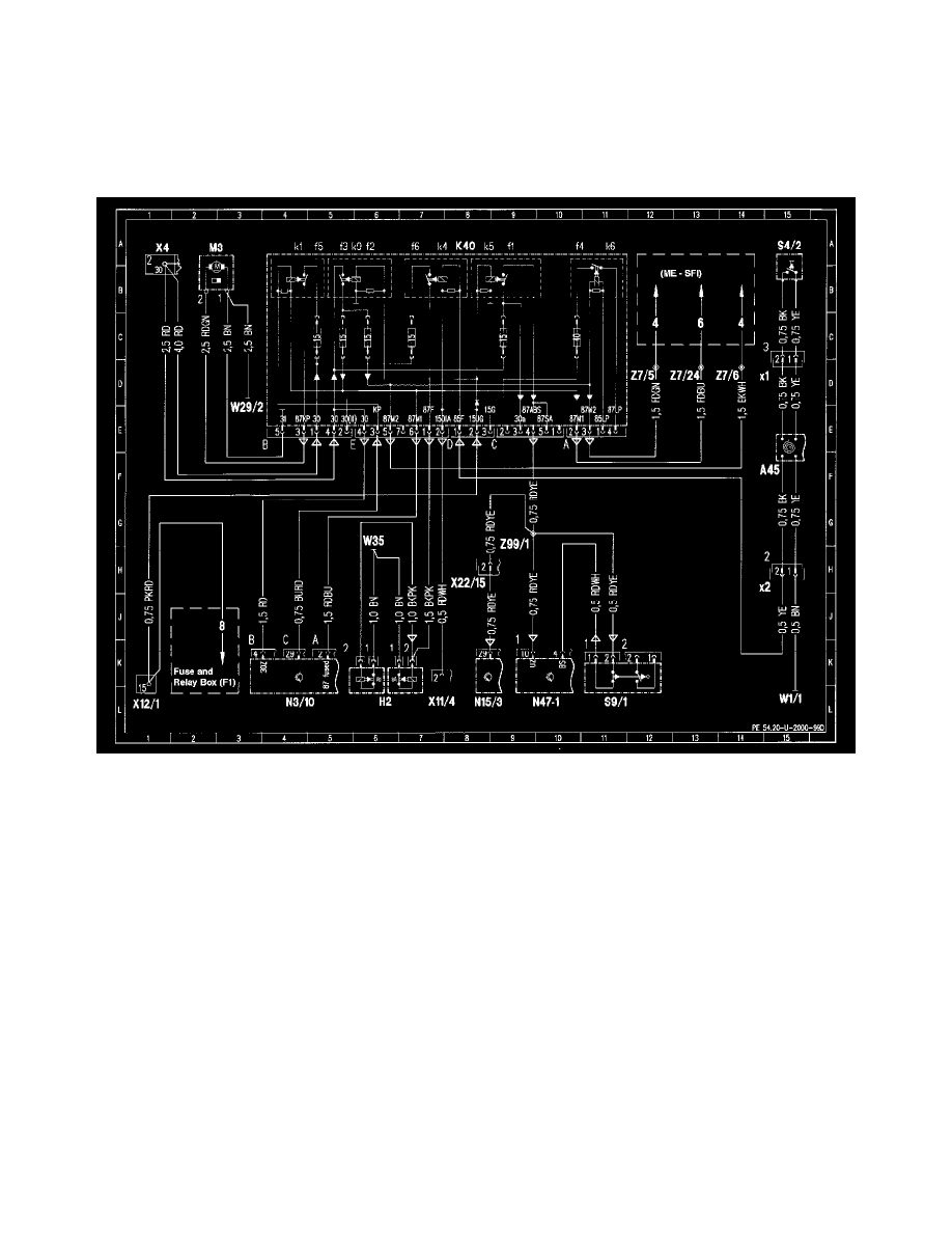 hight resolution of mercedes benz workshop manuals u003e slk 230 170 447 l4 2 3l sc mercedes 230 kompressor 1999 slk 230 fuse diagram