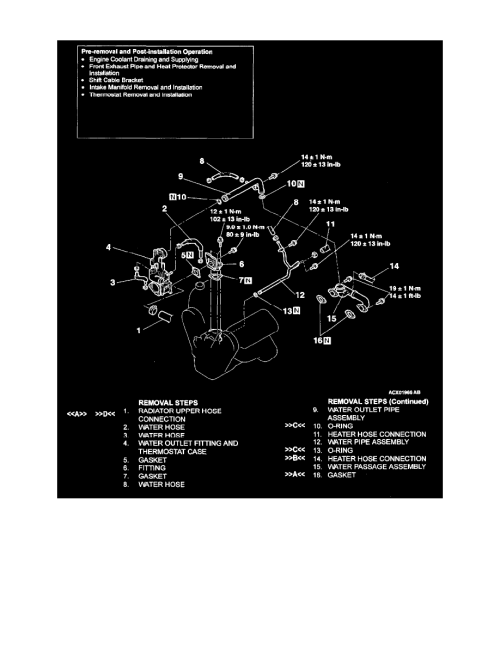 small resolution of engine cooling and exhaust cooling system coolant line hose component information mitsubishi