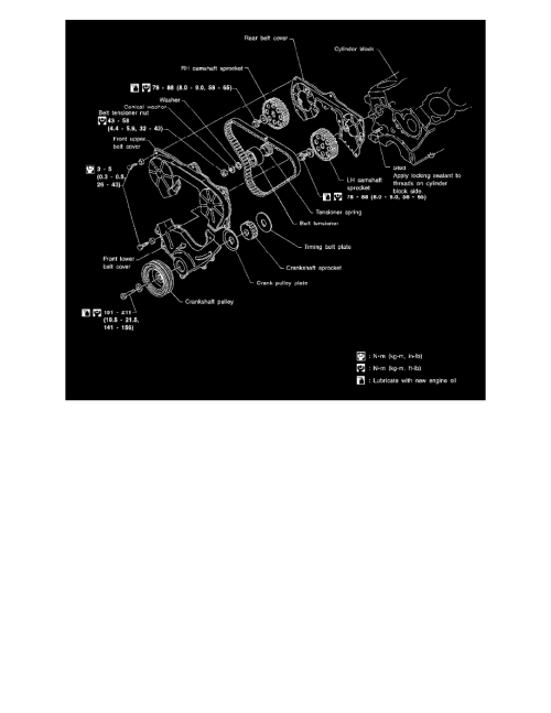 small resolution of engine cooling and exhaust engine timing components timing belt component information diagrams