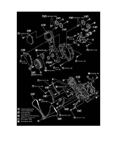 small resolution of engine cooling and exhaust engine timing components timing chain tensioner component information specifications