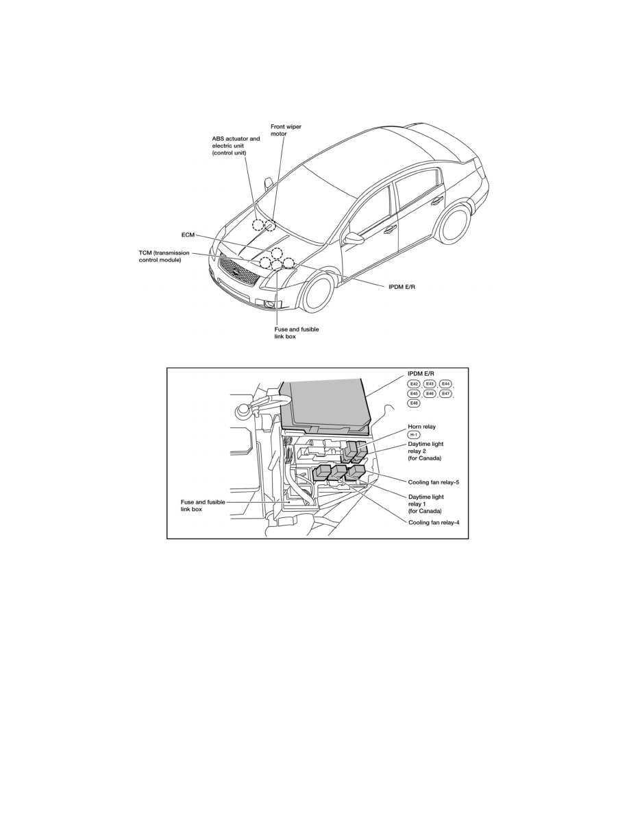 hight resolution of engine cooling and exhaust cooling system relays and modules cooling system radiator cooling fan motor relay component information locations