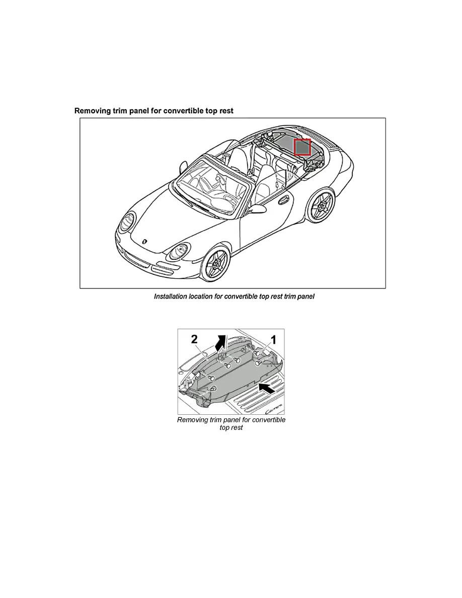 Porsche Workshop Manuals > 911 Carrera 4 Cabriolet (997