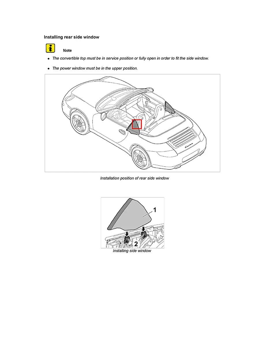 Porsche Workshop Manuals > 911 Carrera 4S Cabriolet (997