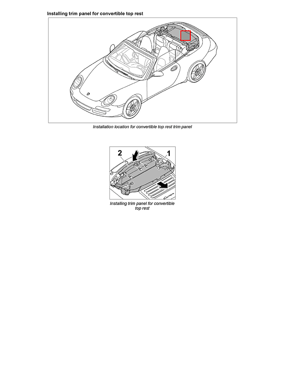 Porsche Workshop Manuals > 911 Carrera Cabriolet (997) F6