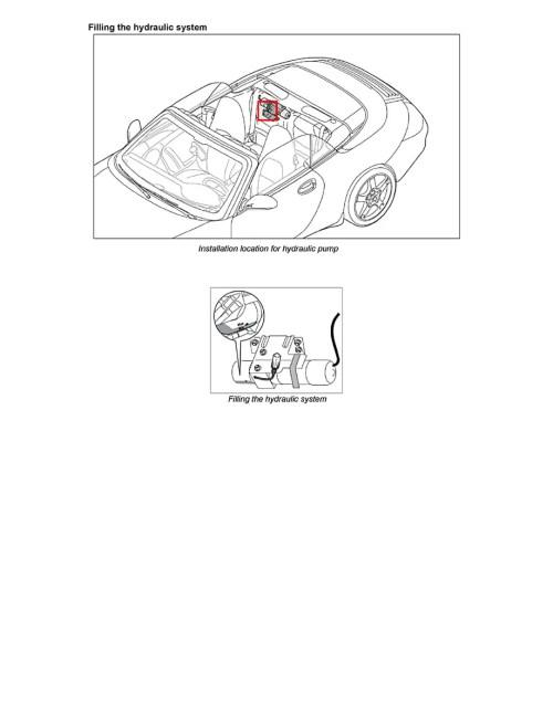 small resolution of porsche 911 carrera convertible top mechanism repair
