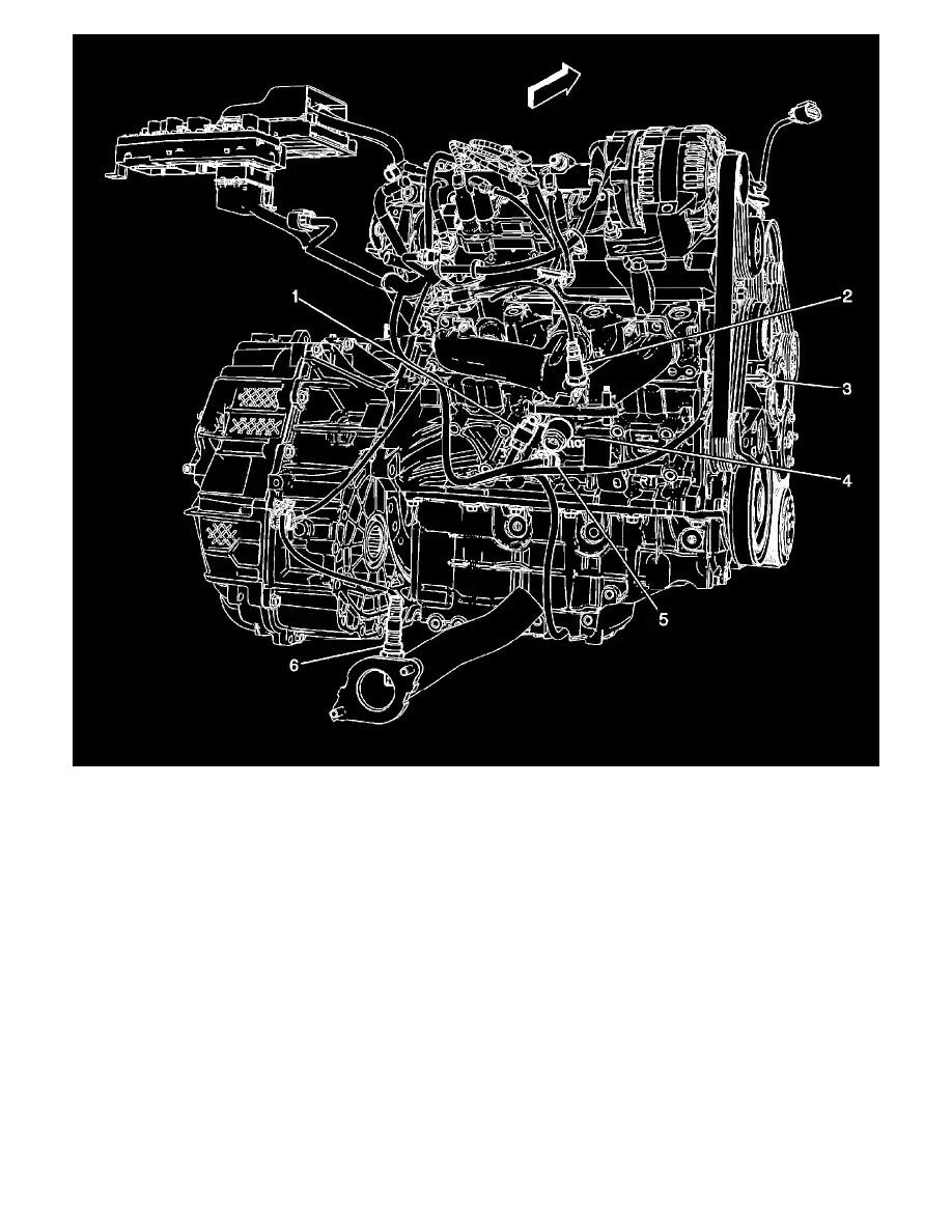Saturn Vue Bank 1 Sensor 2 Location