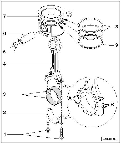 SEAT Workshop Manuals > Leon Mk1 > Power unit > 3 cylinder