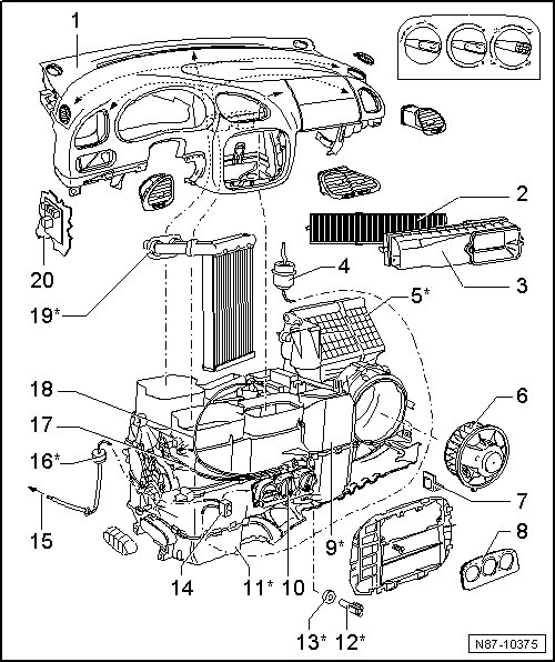 SEAT Workshop Manuals > Leon Mk1 > Heating, ventilation