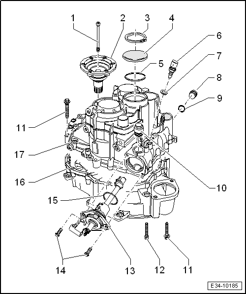 SEAT Workshop Manuals > Leon Mk1 > 0A8 6-speed manual