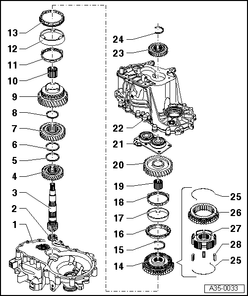 SEAT Workshop Manuals > Leon Mk1 > 02T 5-speed manual