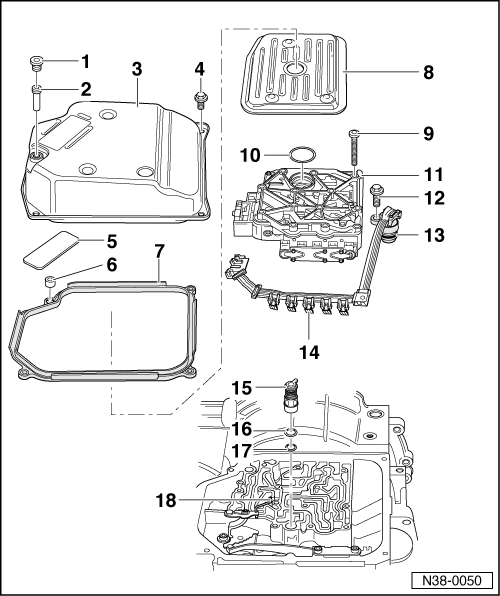 SEAT Workshop Manuals > Leon Mk1 > Automatic gearbox 099