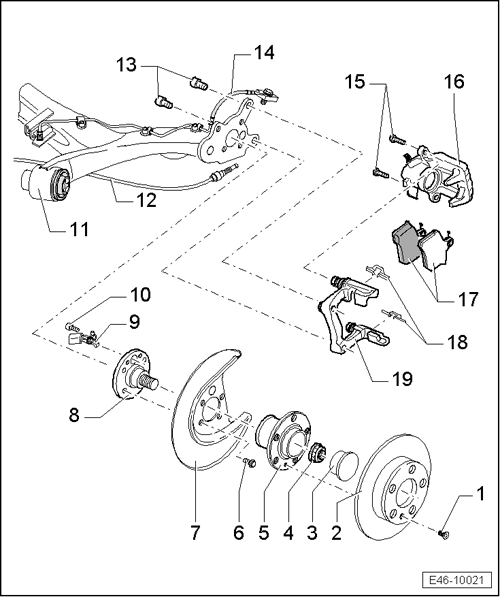 SEAT Workshop Manuals > Leon Mk1 > Running gear > Brake