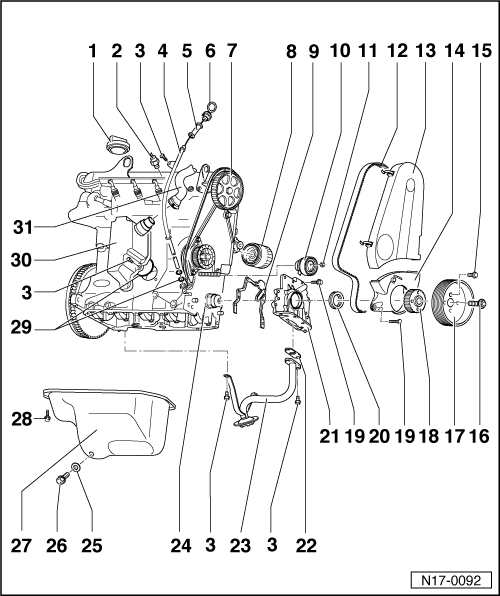 SEAT Workshop Manuals > Leon Mk1 > Power unit > 4-cyl