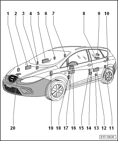 SEAT Workshop Manuals > Leon Mk2 > Body > Body, exterior