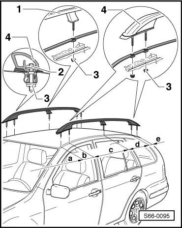 Naknadna ugradnja fabrickih krovnih nosaca (Fabia Combi)