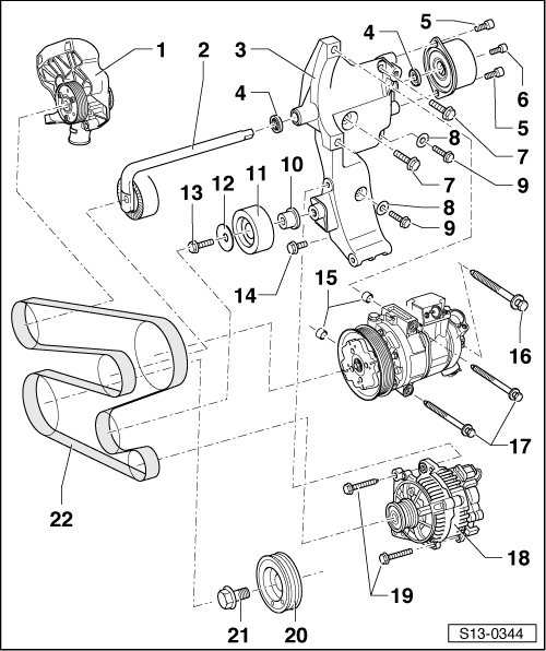 Skoda Workshop Manuals > Fabia Mk1 > Drive unit > 1.0/37
