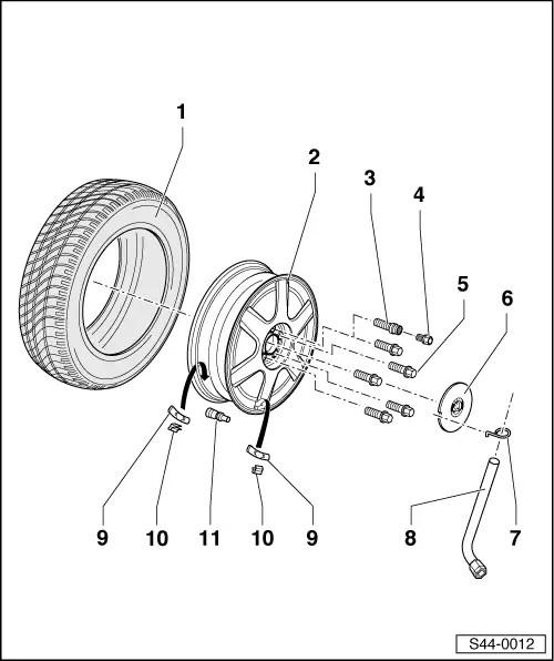 Skoda Workshop Manuals > Fabia Mk1 > Chassis > Wheels
