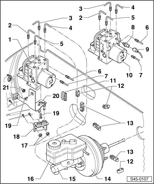Skoda Workshop Manuals > Fabia Mk1 > Chassis > ABS, ADR