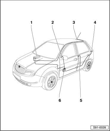 Skoda Workshop Manuals > Fabia Mk1 > Vehicle electrics