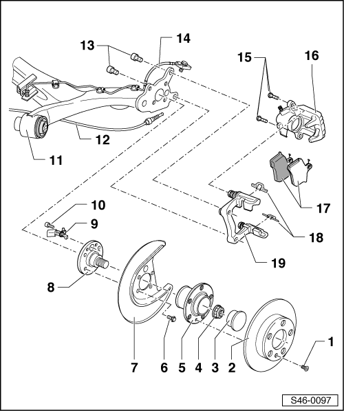 Skoda Workshop Manuals > Fabia Mk1 > Chassis > Brake
