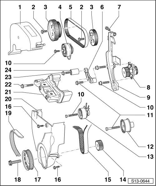 Skoda Workshop Manuals > Fabia Mk1 > Power unit > 1.4/55