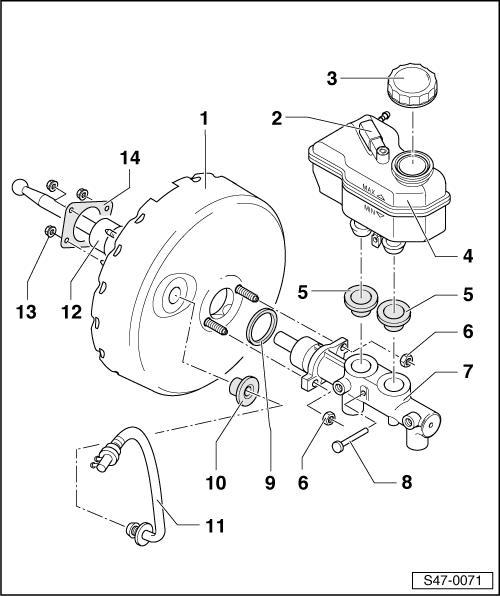 Skoda Workshop Manuals > Fabia Mk1 > Chassis > Brakes