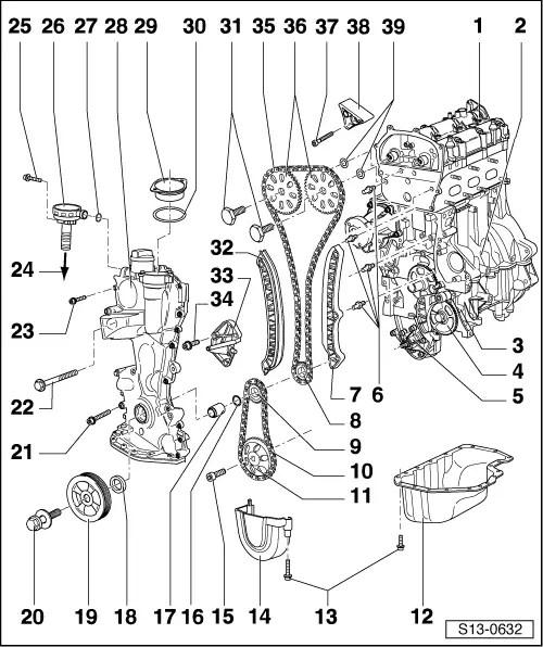 Skoda Workshop Manuals > Fabia Mk1 > Power unit > 1,2/40