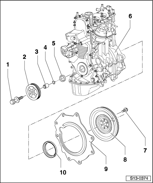 Skoda Workshop Manuals > Fabia Mk1 > Power unit > 1,2/40
