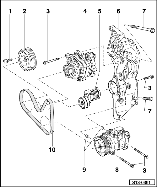 Skoda Workshop Manuals > Fabia Mk1 > Power unit > 1.9/47