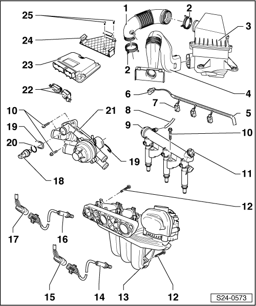 Skoda Workshop Manuals > Fabia Mk1 > Engine > 1.2/40; 1.2