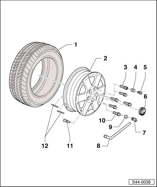Skoda Workshop Manuals > Fabia Mk2 > Chassis > Wheels