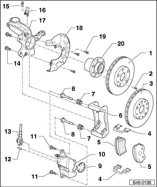 Skoda Workshop Manuals > Fabia Mk2 > Chassis > Brake