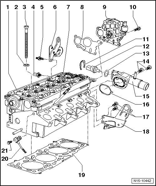 Skoda Workshop Manuals > Fabia Mk2 > Power unit > 1.6/55