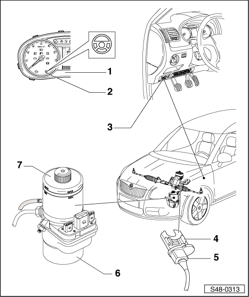 Skoda Workshop Manuals > Fabia Mk2 > Chassis > Steering
