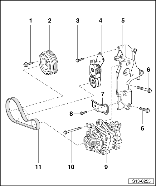 Skoda Workshop Manuals > Fabia Mk2 > Drive unit > 1.9/77