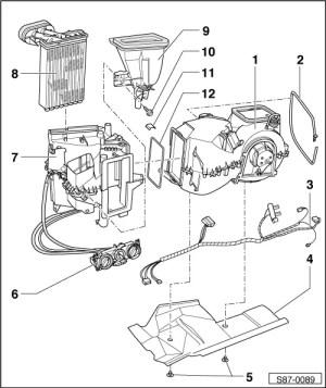 Skoda Workshop Manuals > Octavia Mk1 > Heating, Air conditioning > Heating, Air conditioning