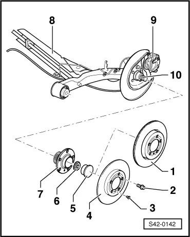Skoda Workshop Manuals > Octavia Mk1 > Chassis > Rear