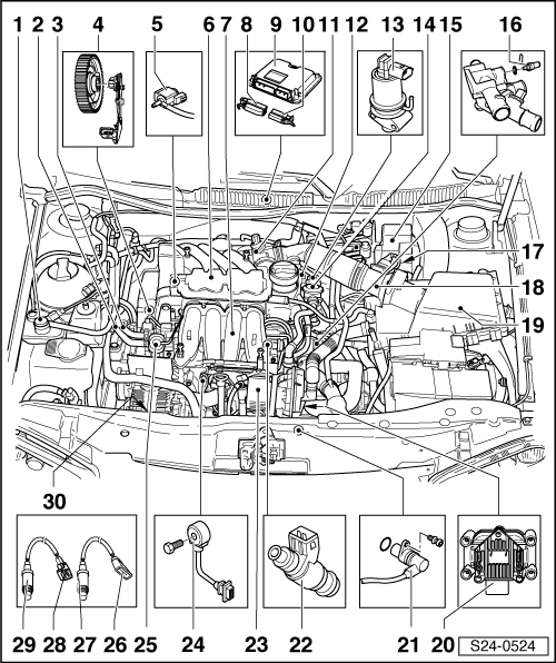 Skoda Workshop Manuals > Octavia Mk1 > Drive unit > 1.6 l