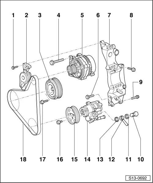 Skoda Workshop Manuals > Octavia Mk1 > Drive unit > 1.8
