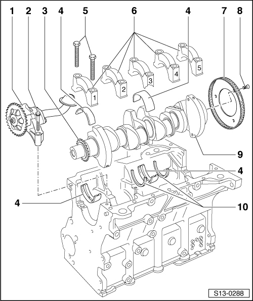 Skoda Workshop Manuals > Octavia Mk1 > Power unit > 1,6/74