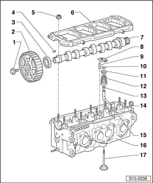 Skoda Workshop Manuals > Octavia Mk1 > Power unit > 1,6/74
