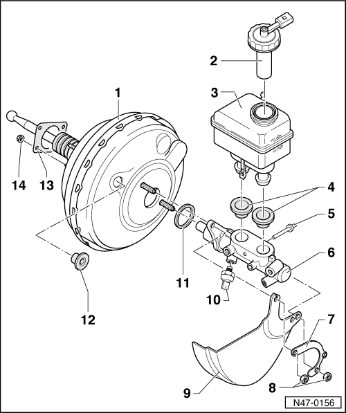 Skoda Workshop Manuals > Octavia Mk1 > Brake systems